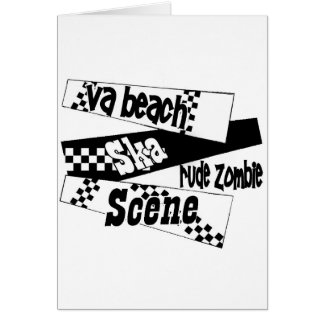 Rude Zombie ska scene Greeting Card