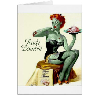 "Rude Zombie ""The First Bite"" Card"