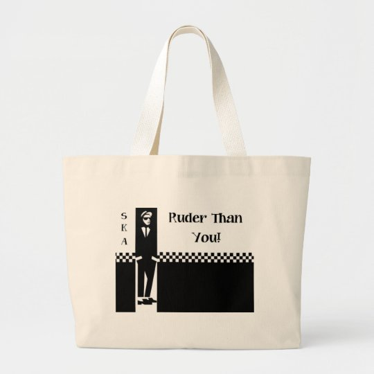 RUDER THAN YOU. LARGE TOTE BAG