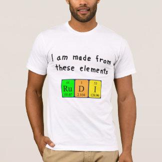 Rudi periodic table name shirt