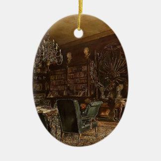 Rudolf Alt-Library of the Palais Lanckoronski Christmas Tree Ornament