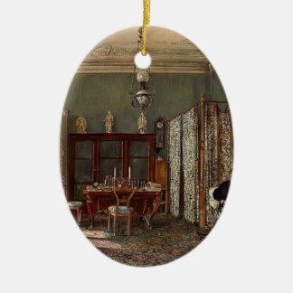 Rudolf Alt-Morning Room of the Palais Lanckoronski Christmas Ornament