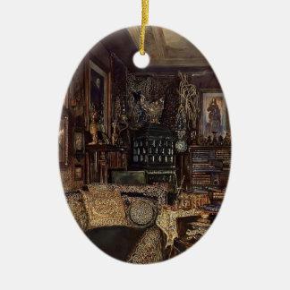 Rudolf Alt- The Office of Count Lanckoronski Christmas Tree Ornaments