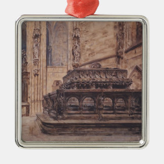 Rudolf Alt- The tomb of Emperor Frederick III Christmas Tree Ornaments
