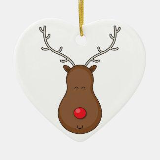Rudolf Ceramic Heart Decoration
