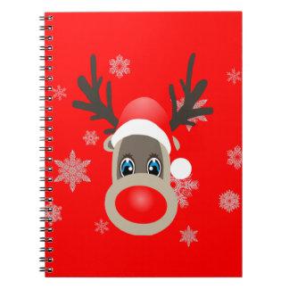 Rudolf - Christmas reindeer Spiral Notebook