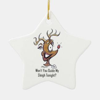 rUdOlF dA rEiNdEeR Christmas Tree Ornament