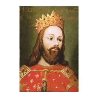 Rudolf I  uncrowned Holy Roman Emperor Gallery Wrap Canvas