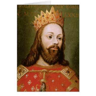 Rudolf I  uncrowned Holy Roman Emperor Greeting Card