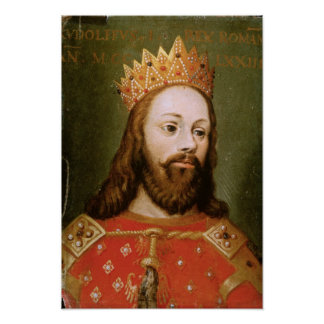 Rudolf I  uncrowned Holy Roman Emperor Poster