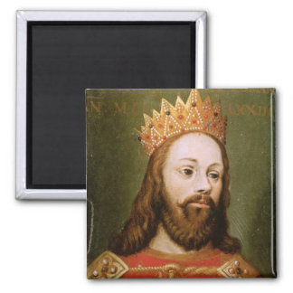 Rudolf I  uncrowned Holy Roman Emperor Square Magnet