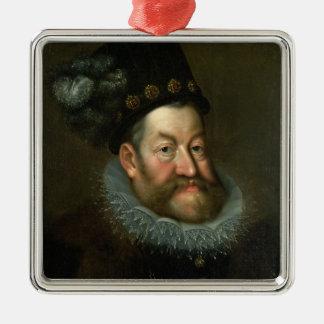 Rudolf II , 1600-3 Silver-Colored Square Decoration
