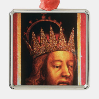 Rudolf IV, Emperor of Austria and Tyrol , c.1360 Silver-Colored Square Decoration