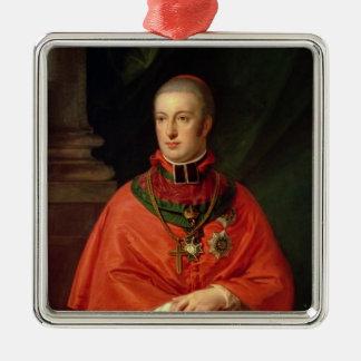 Rudolf of Habsburg Silver-Colored Square Decoration