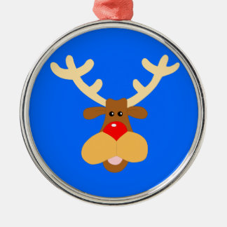 Rudolf Red Nose Reindeer Silver-Colored Round Decoration