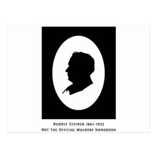 Rudolf Steiner Cameo With Dates Postcard