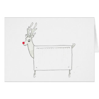 Rudolf the Red Nosed Radiator Card