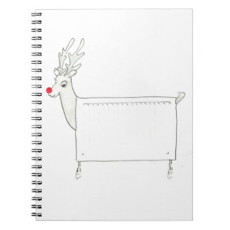 Rudolf the Red Nosed Radiator Spiral Notebook