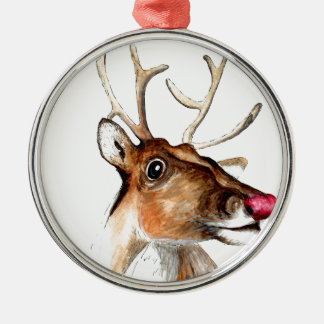 Rudolf the red nosed reindeer Silver-Colored round decoration
