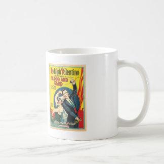 Rudolf Valentino Blood Sand Poster Basic White Mug