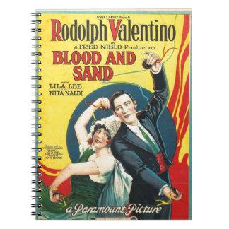 Rudolf Valentino Blood Sand Poster Note Book