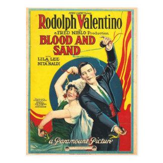 Rudolf Valentino Blood Sand Poster Postcard