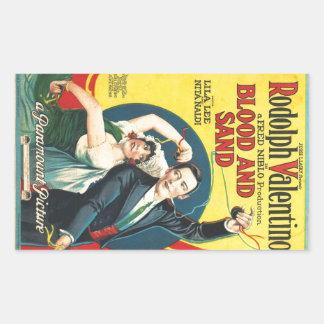 Rudolf Valentino Blood Sand Poster Rectangular Sticker