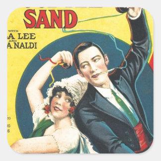 Rudolf Valentino Blood Sand Poster Square Sticker