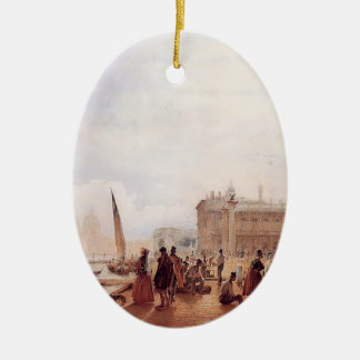 Rudolf von Alt-Figures on the Riva degli Schiavone Christmas Ornament