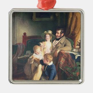 Rudolf von Arthaber  with his Children Rudolf Silver-Colored Square Decoration