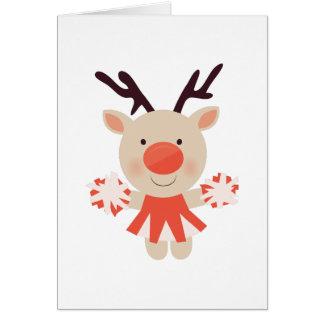 Rudolph Cheerleader Greeting Card