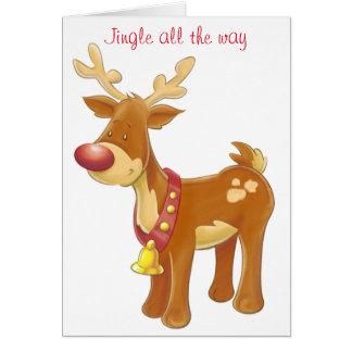 """""""RUDOLPH"""" CHRISTMAS CARD"""