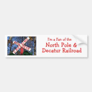 Rudolph Express Car Bumper Sticker