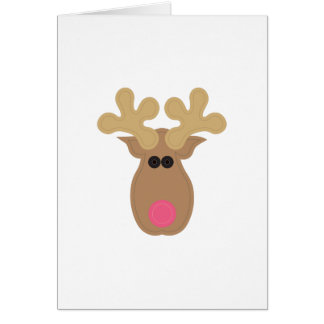 Rudolph Face Card
