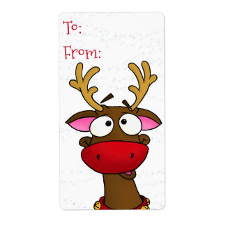 Rudolph, gift tag stickers