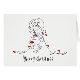 Rudolph in a Tangle Card