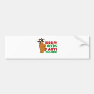 Rudolph Needs Anti Histamine Bumper Sticker
