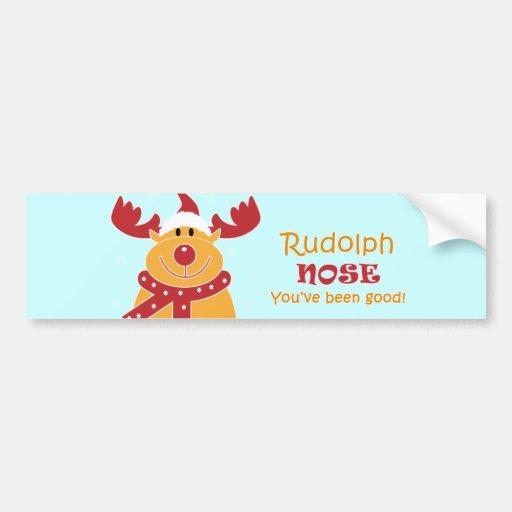 Rudolph Nose... Bumper Sticker