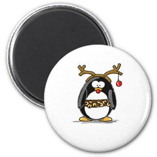 Rudolph penguin magnet