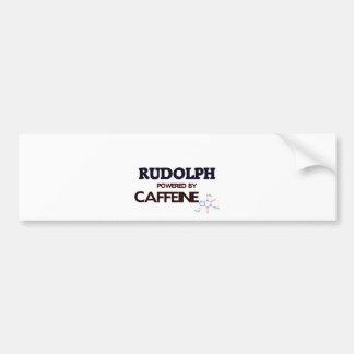 Rudolph Powered by Caffeine Car Bumper Sticker