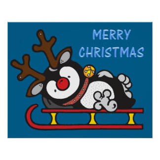 rudolph red nose penguin poster