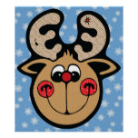 rudolph red nose reindeer posters