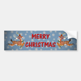 Rudolph Red Nose Reindeer Vintage Art Bumper Stickers