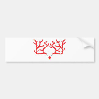 Rudolph Reindeer Bumper Stickers