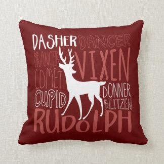 Rudolph Reindeer Silhouette Cushion