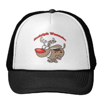 rudolph reindeer wannabe puppy dog trucker hats