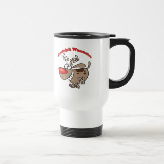 rudolph reindeer wannabe puppy dog coffee mug