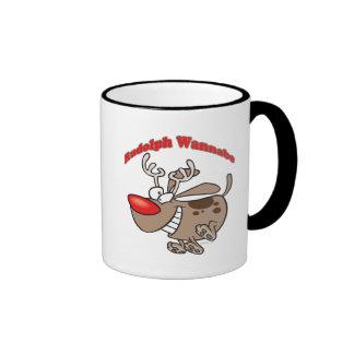 rudolph reindeer wannabe puppy dog mug