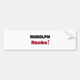 Rudolph Rocks Bumper Stickers