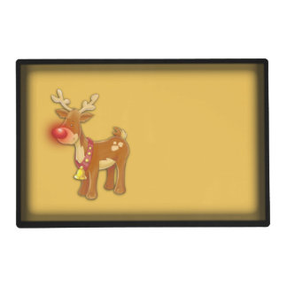 Rudolph the Red Nosed Reindeer Gold Laminated Place Mat